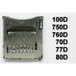 Gniazdo czytnik kart SD Canon 100D 750D 760D Rebel T6i Kiss X8i