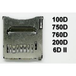 Gniazdo czytnik kart SD Canon 100D 200D 750D 760D Rebel T6i Kiss X8i